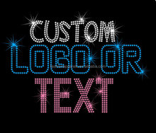 Wholesale &Custom logo or text bling crystal rhinestone heat transfer