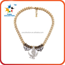 European and American luxury high-grade hollow heart shaped jewels necklace set