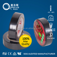 high quality factory black pvc tape printing custom logo