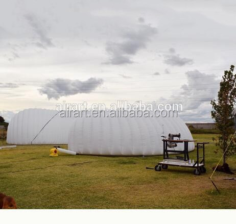 custom giant outdoor pvc inflatable dome tent for sale/high quality and waterproof inflatable tunnel tent