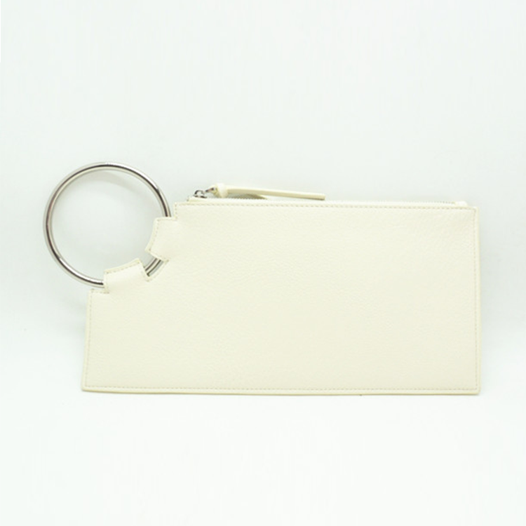 Gold supplier white PU sling bag women Square ladies round clutch bag