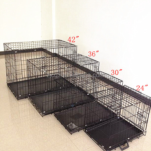 Large size metal material folding dog cage
