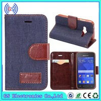 Wallet Leather Case For Samsung Galaxy ACE 4 Western Cowboy Leather Case