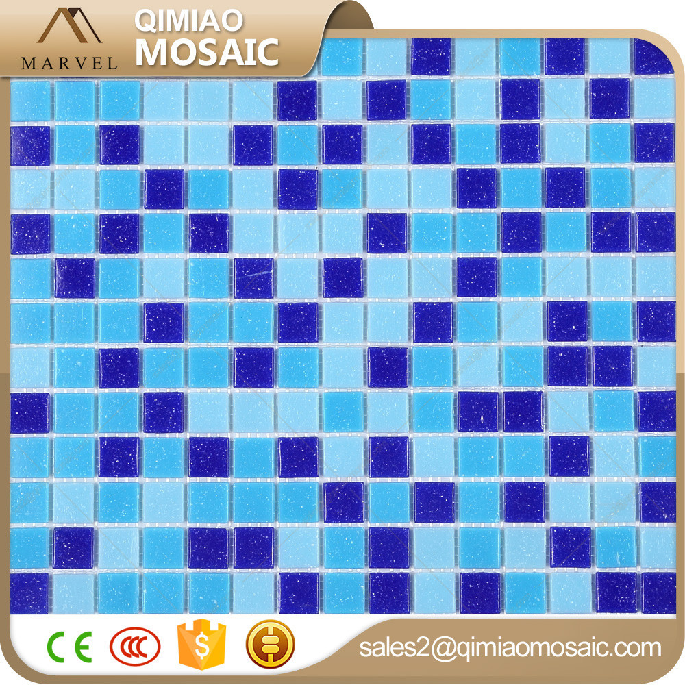 New Building Construction Materials Swimming Pool Tiles Backlit Glass Mosaic