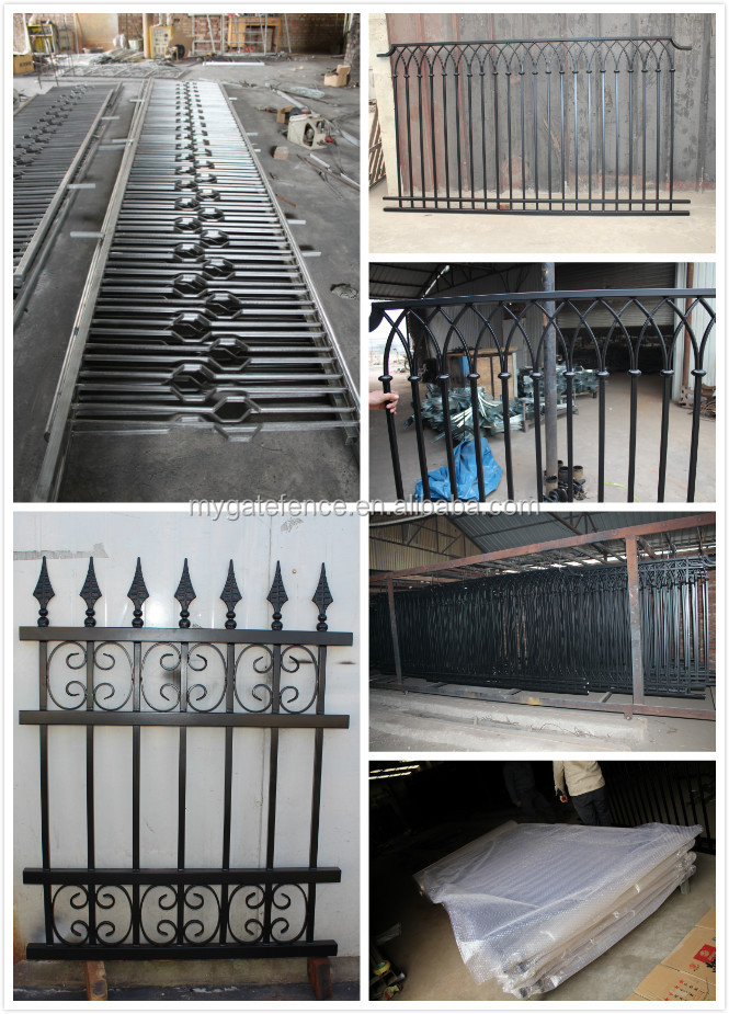 cheap wholesale ornamental used wrought iron fence panels. Black Bedroom Furniture Sets. Home Design Ideas