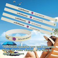 Promotional Gift PP Material PFT-306S UV Tester Sticker Bracelet Wristband Reminder you Apply Sunscreen for Sunbath