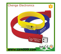 promotional bracelet wrist usb flash drives with capacity 2gb 4gb 8gb 16gb 32gb 64gb in wristband model usb memory stick