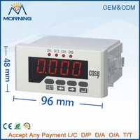 ME-H51 96*48mm hot sale LED display single phase digital power factor meter, provide LED display and local data query