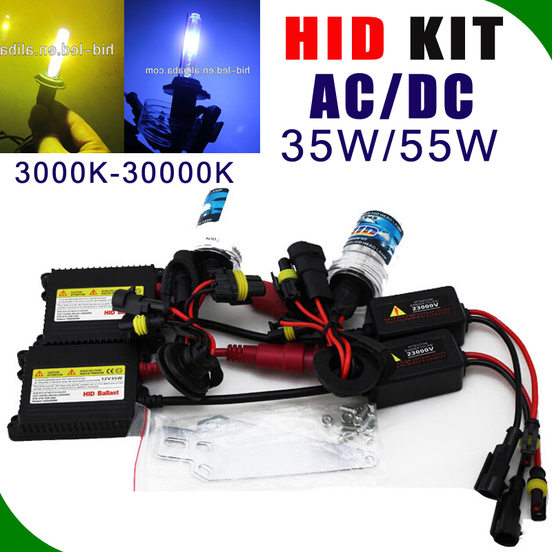 NEW HID bulb kit 35w/55w/75w ballast white yellow blue purple h1 h4 h8 h9 car accessories built-in ballast xenon hid xenon bulk