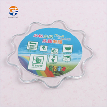 Craft gift Plastic PS Cup Mat/coaster for advertising