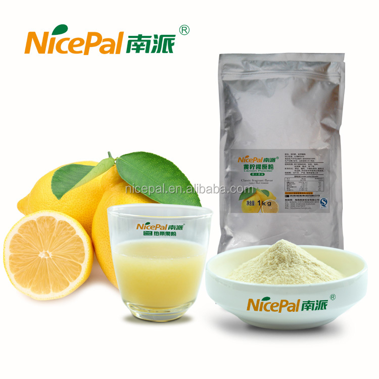 Spray dried fruit juice powder yellow lemon powder for beverage