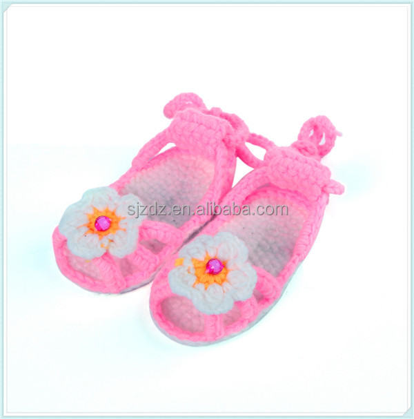 Crochet Knitted Sandals New Arrival Baby Girls Shoes