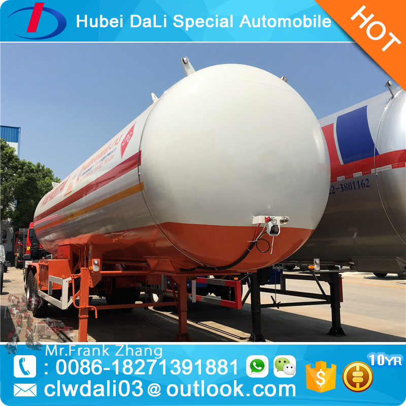 40000 liters lpg transport tank semi trailer