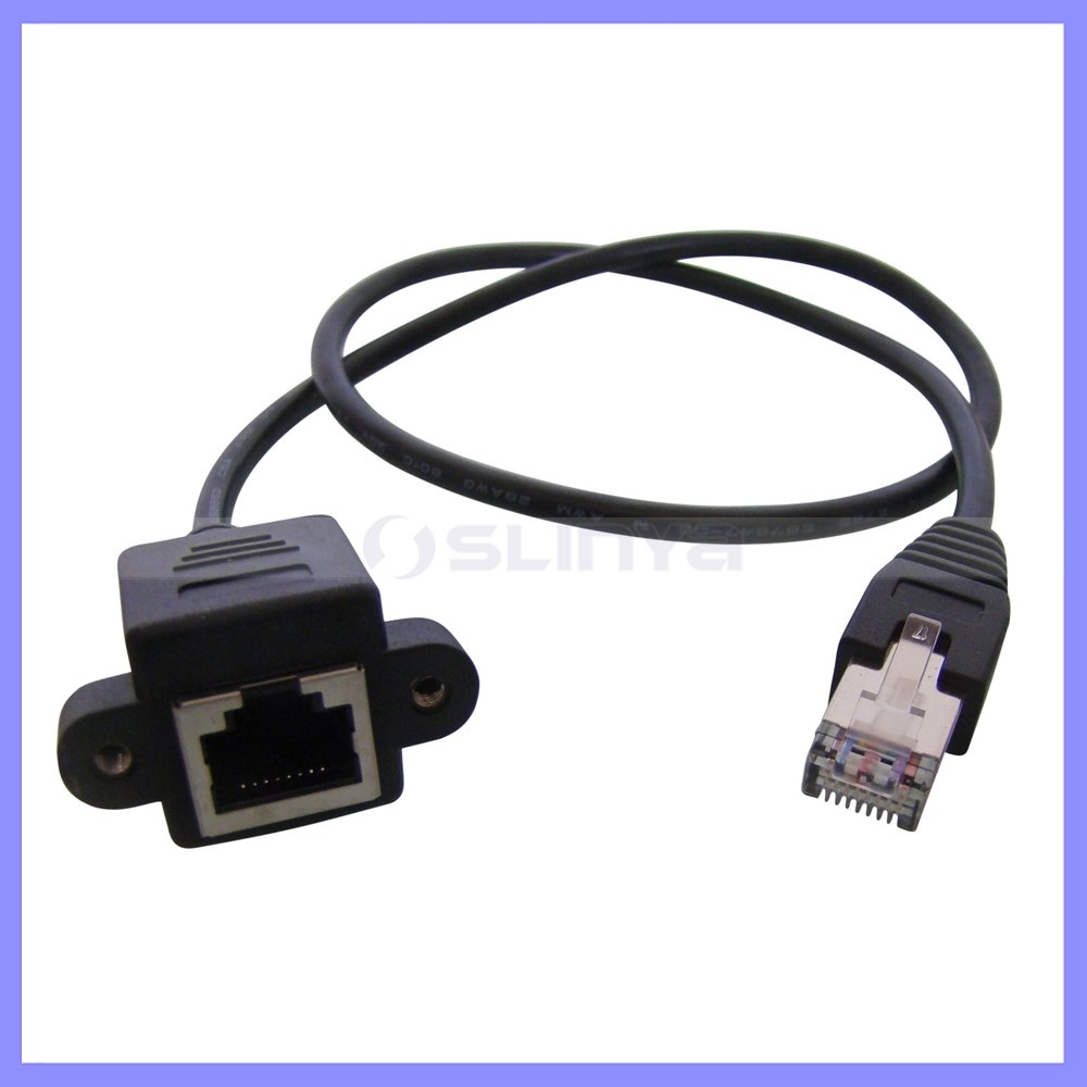 Ethernet Extension Cable : Network extension cable rj male to female screw panel