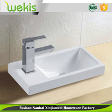 Basin Sink Square Wall Hung Small Ceramic Cloakroom Compact Bathroom 405mm