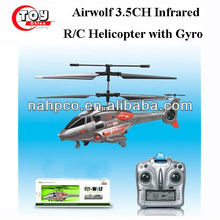 Airwolf 3.5CH Infrared R/C Helicopter with Gyro