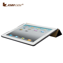 Hot Selling Magnetic Smart Cover For iPad 4 Stand Holder genuine leather cover case for ipad 4