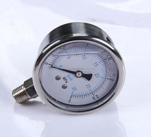 "Durable LightWeight Easy To Read Clear Bourdon Sedemeyx63 2.5"" 63mm magnetic resistence electric contact pressure meter"