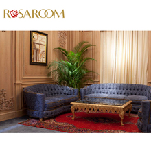 Italian classic design furniture hand carved solid wood royal indian sofa