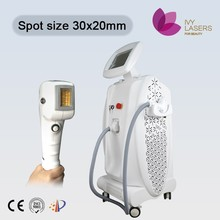 Newest beauty device 20*30mm big spot size 808nm diode laser hair removal machine