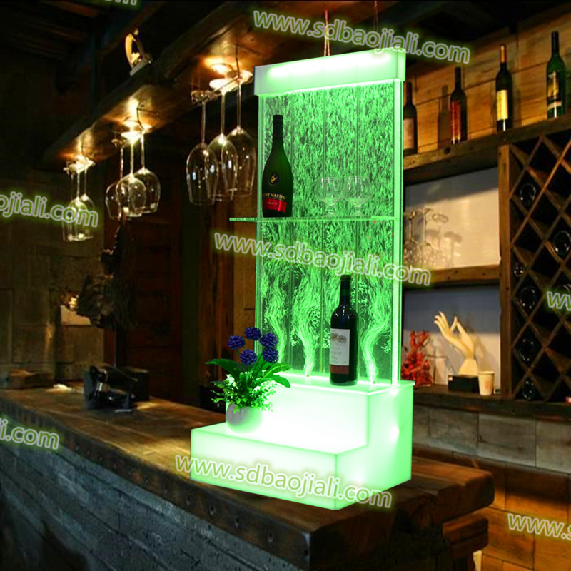 LED lighted RGB small acrylic display stands wine cabinets restaurant bar furniture