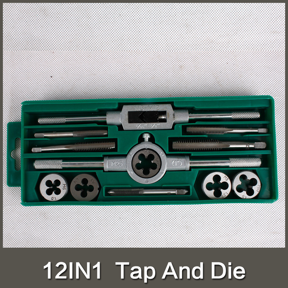 12PCS Metric Tap and Die Set M6 M7 M8 <strong>M10</strong> M12