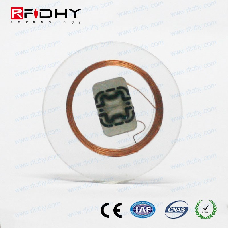 RFIDHY Waterproof TK4100 EM4102 ABS rfid coin tag with black colour