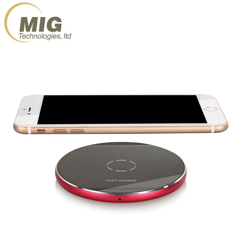 Fantasy Qi Wireless Charger Crystal UFO Shape Charging Pad with LED Light for iphone 8 for iphone X 10 charger for Samsung S8