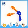 high quality soft ear plugs earbuds in orange color