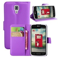 Classic Wallet PU Leather Book Style Flip Cover Stand Case For LG F70 D315