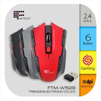 2.4G Advanced Wireless Mouse W4 Led Light Optical Wireless Mouse
