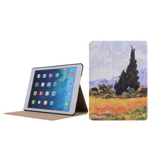 New Arrvial color printing Available Ultra Thin Leather Flip cover For Ipad 9.7 Tablet Case