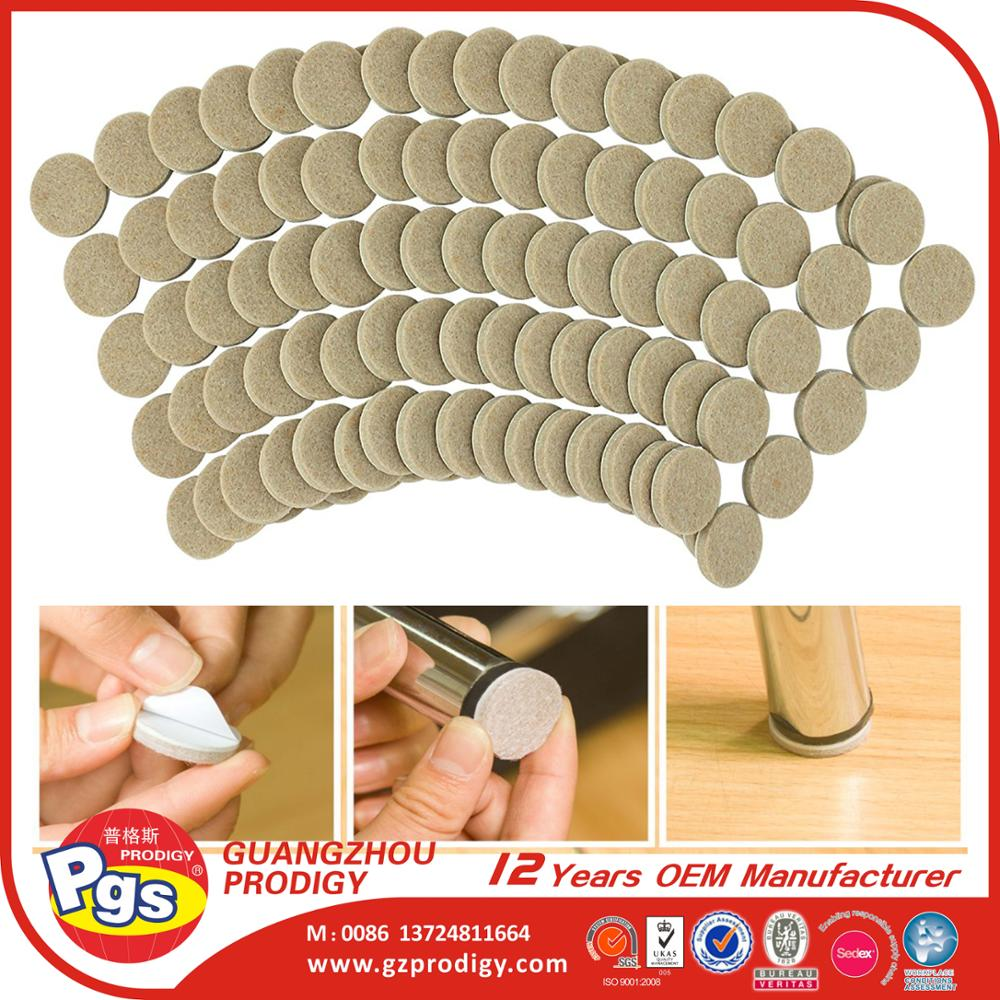 Self-Stick Round Felt Pads furniture leg protector felt chair leg protector