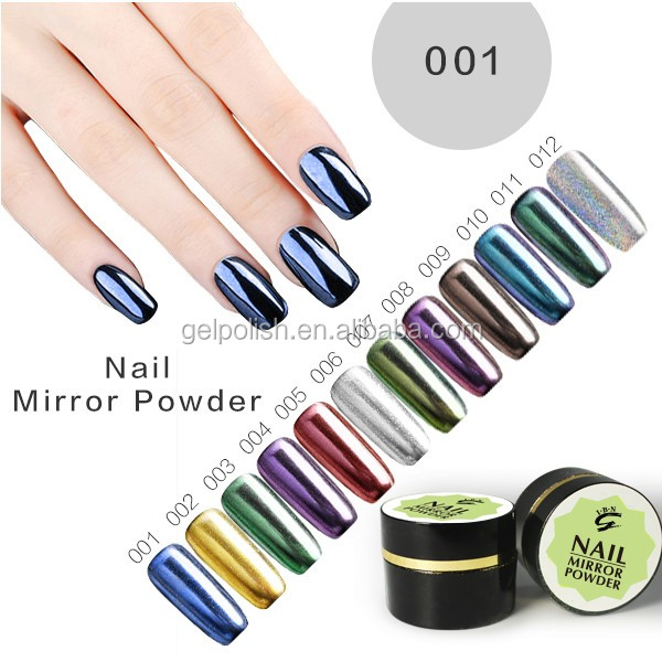 american acrylic nails Magic metallic effect powder for nail art magic mirror powder