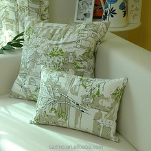 Printed 100% cotton throw pillow cover, pillow cases