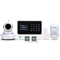 gsm alarm system support SIA CID function wireless alarm system