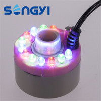 Mist Maker Mister Fogger Atomizer Air Humidifier Water Fountain Pond With 12 LED Lights (Mist maker with Power Supply)