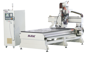 SUDA 10KW ATC wood working cnc machining center with 3KW horizonal spindle