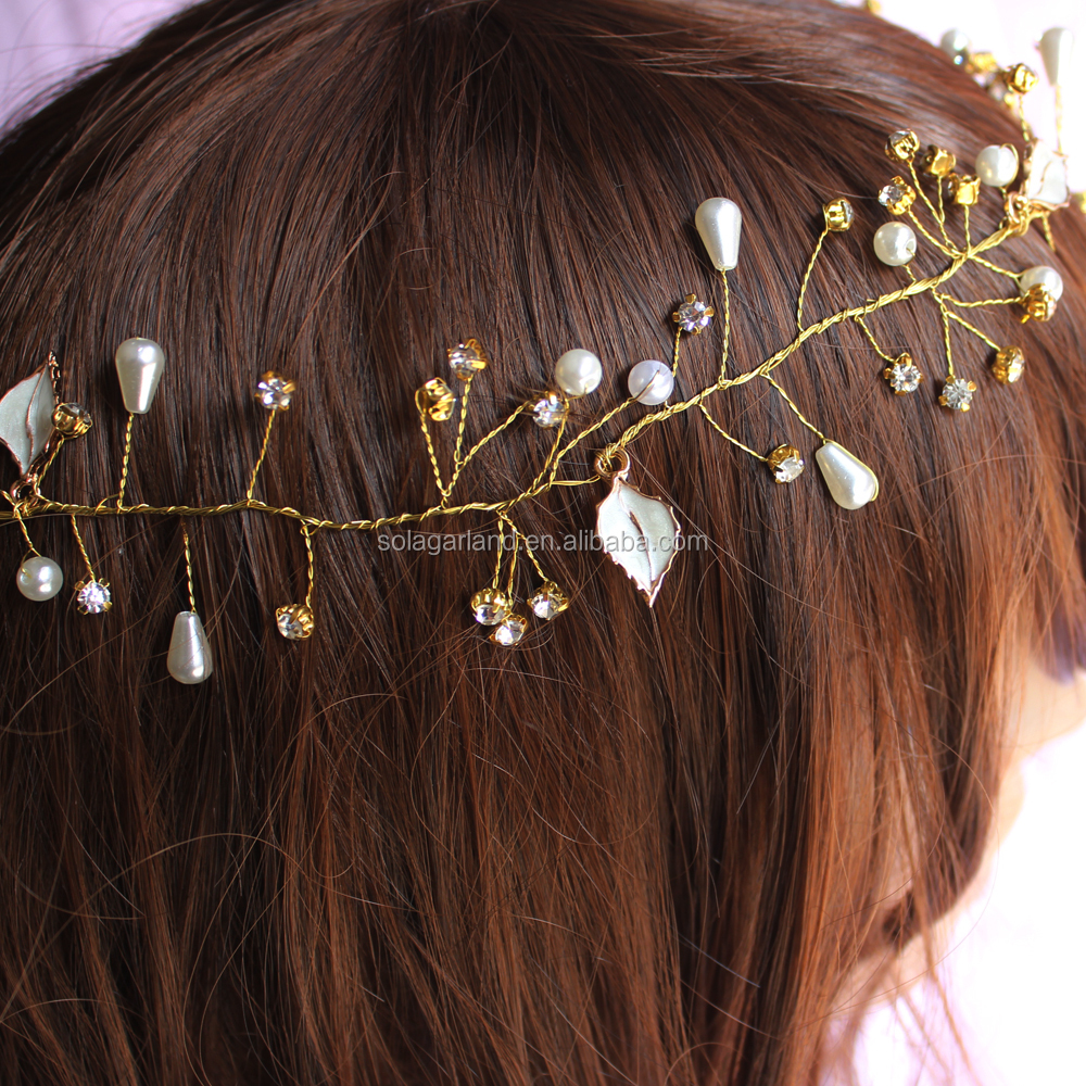 Crystals Bridal Wedding Headband, Hair Vine and Headpiece
