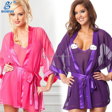 Two Piece Of Hot Indian Girl Mature Women Colorful Sexy Nightgown Sexy Asian Sleepwear