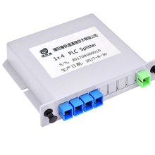 Best price abs box fiber optic multimode plc splitter 1 *4 1x4steel tube pon plc splitter modules