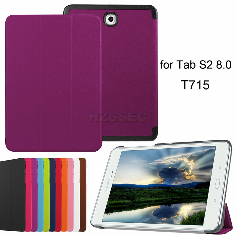 Ultra slim lightweight tablet leather flip stand cover case for Samsung Galaxy Tab S2 8.0