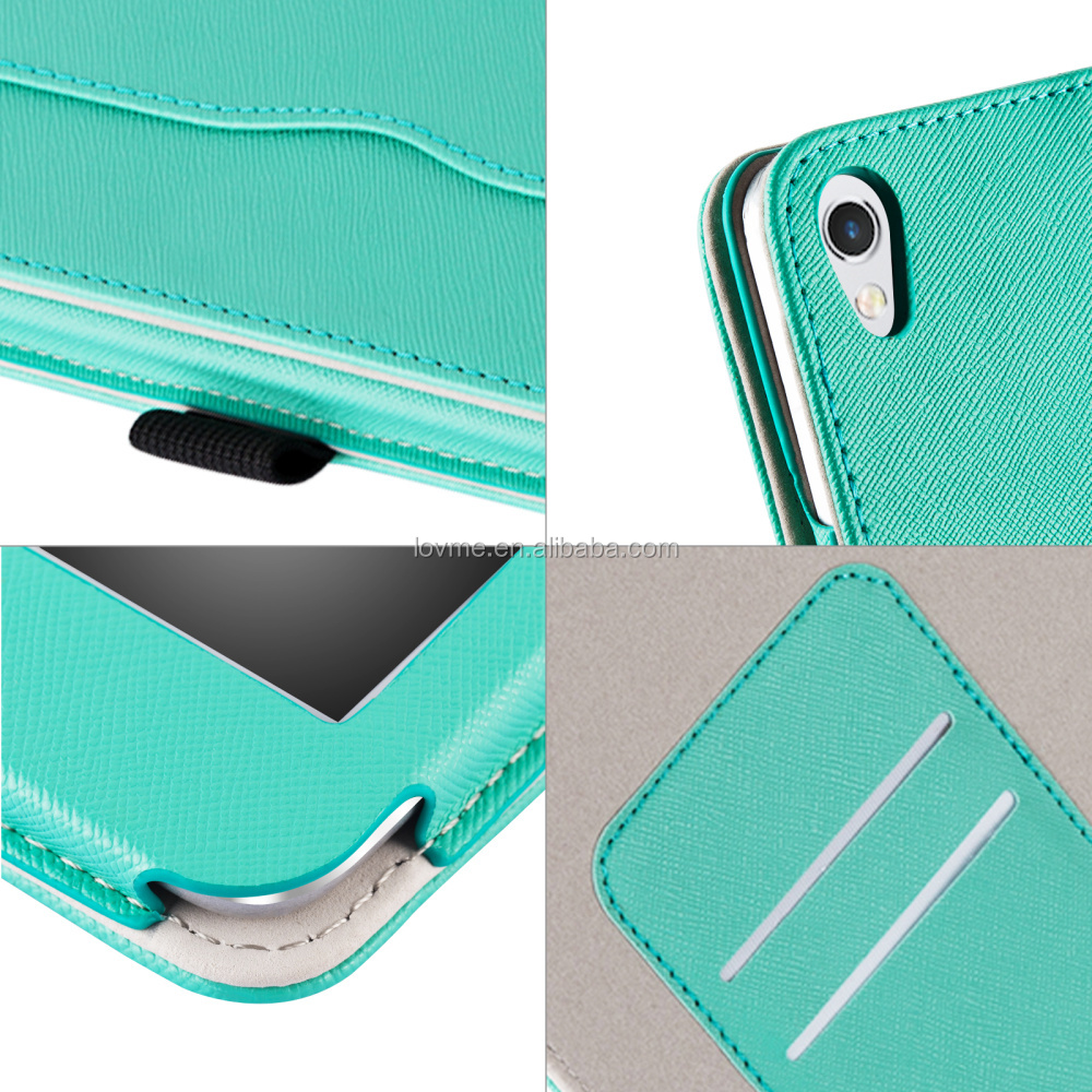 Premium Pu Leather Wallet Portfolio Case Cover With Stand For Apple iPad 2017 Version