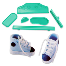 New high cut sneaker shape impress mould for cake decorating cake stamp pastry tools