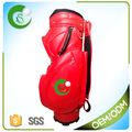 Top quality 14 Way Red PU Golf Cart Bag