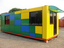 Used for outdoor elegant design shipping container coffee shop, portable coffee shop,modular restaurant buildings of OEM ODM