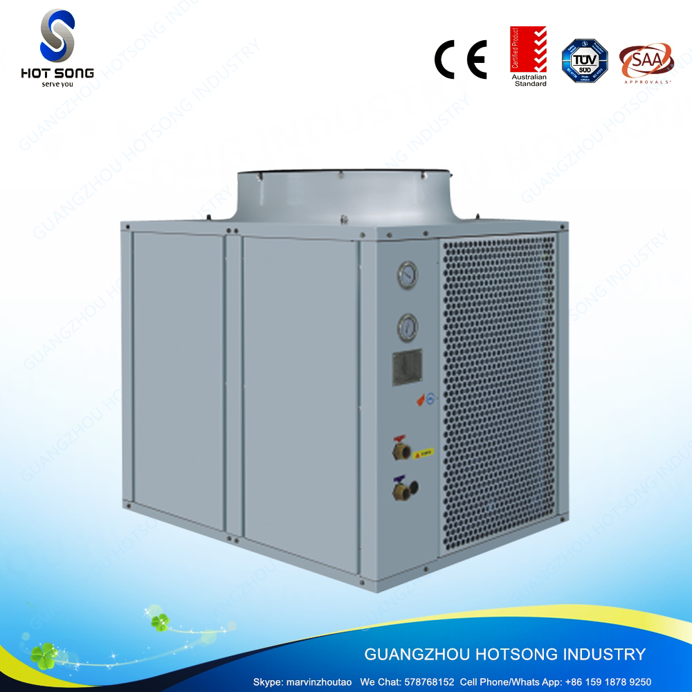 HS-92W/D commercial all in one high cop evi safety and reliability air to water heat pump for restaurant 38kw water heater