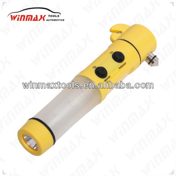 WINMAX LED FLASHLIGHT TORCH BELT CUTTER SAFETY HAMMER ESCAPE EMERGENCY TOOL WT04695