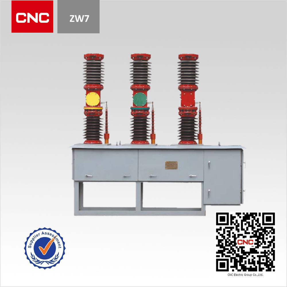 High Quality ZW7-40.5 Type Vacuum Circuit Breaker 3 outdoor 40.5kv vacuum circuit