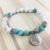 SN0704 Patience Compassion Tree Of Life Bracelet Howlite Boho Women and Men Beaded Mala bracelet